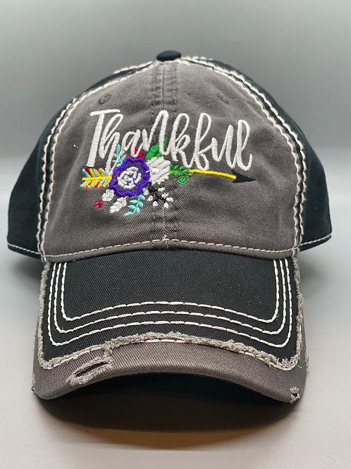 Thankful Distressed Baseball Cap