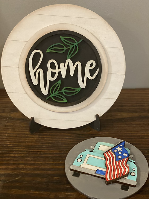 Interchangeable Home Sign with Easel