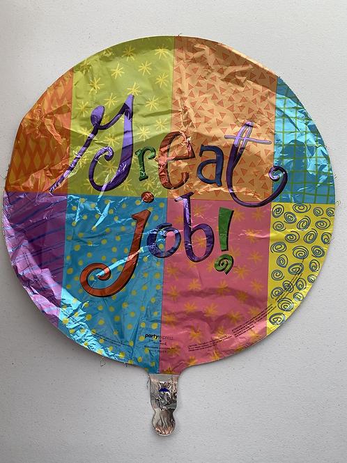 Great Job Patchwork Foil Balloon