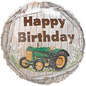 Happy Birthday Tractor Foil Balloon