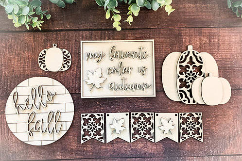 Fall Tiered Tray Set-BLANK