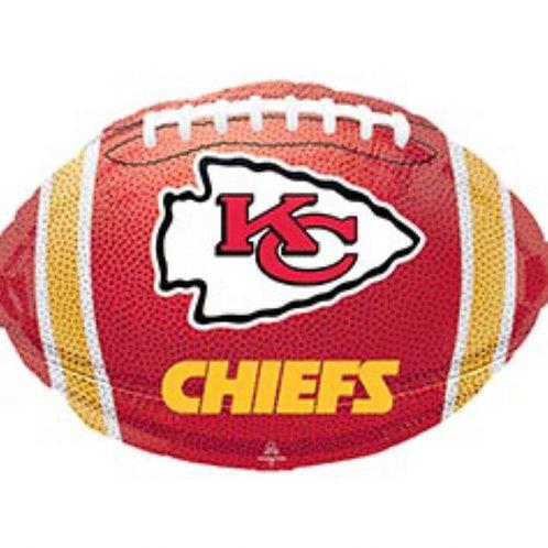 KC Chiefs Football Foil Balloon