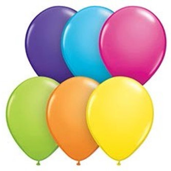 Tropical Colored Latex Balloons