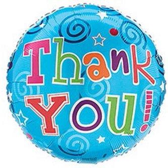 Thank You Blue Foil Balloon