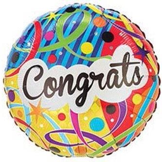 Congrats Streamer Foil Helium Balloon