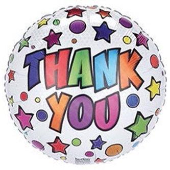Thank You Stars Foil Balloon