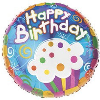 Cupcake Birthday Foil Balloon