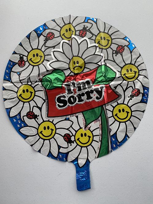 I'm Sorry Daisies  Foil Balloon
