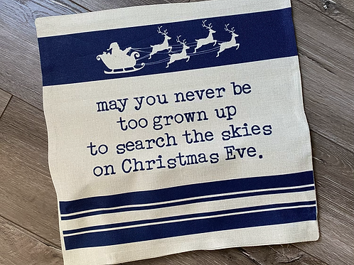 Skies on Christmas Eve Pillow Case