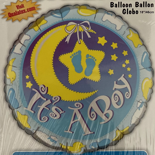 It's a Boy Moon and Star Foil Helium Balloon