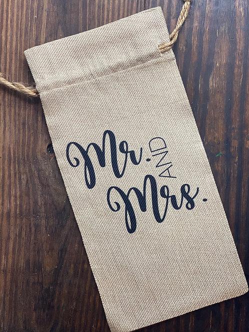 Mr. And Mrs. Wine Bag
