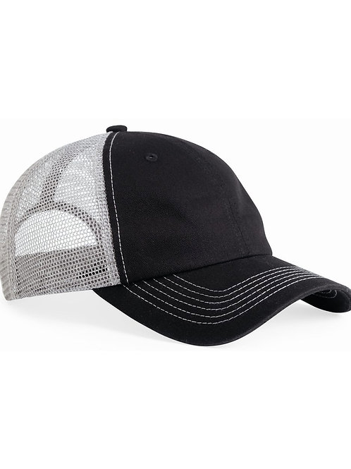 Contrast Stitch Mesh Back Hat