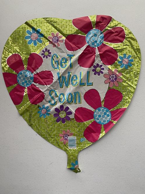 Get Well Heart  Foil Balloon