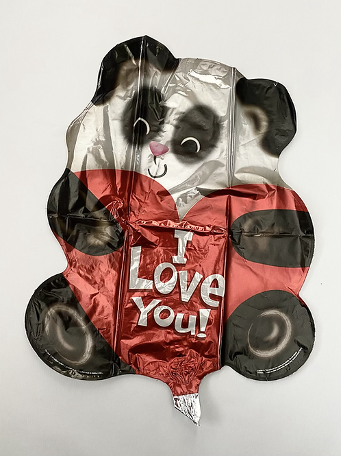 I Love You Bear Foil Balloon