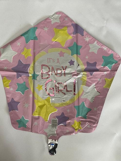 Its a Girl Stars  Foil Helium Balloon