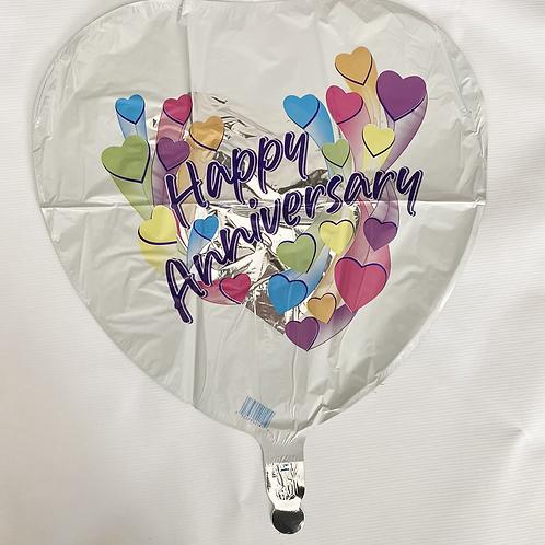 Hapy Anniversary Hearts Foil Helium Balloon