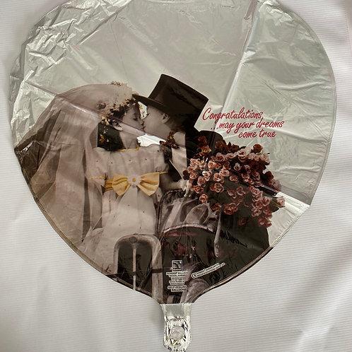 Dreams Come True Wedding Helium Balloon