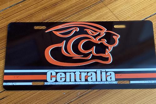 Centralia Striped License Plate