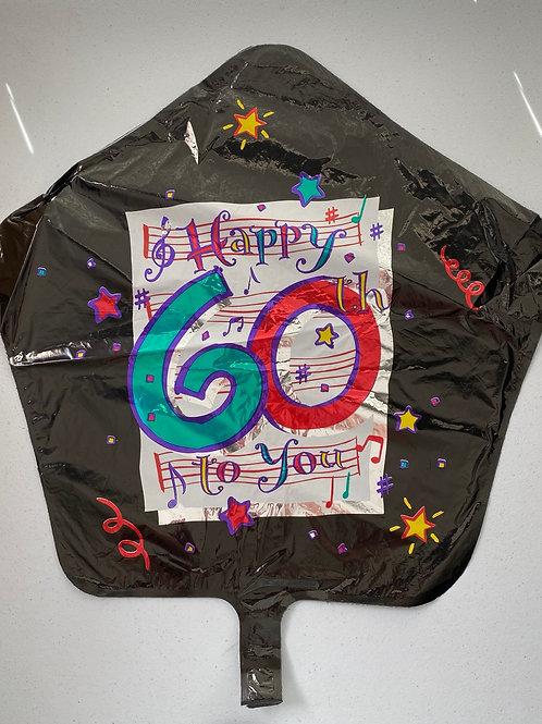 Happy 60 Birthday Foil Balloon