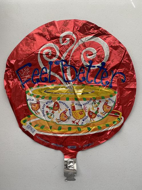 Feel Better Chicken Soup  Foil Balloon