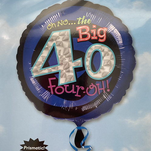 The Big 4-0 Foil Balloon