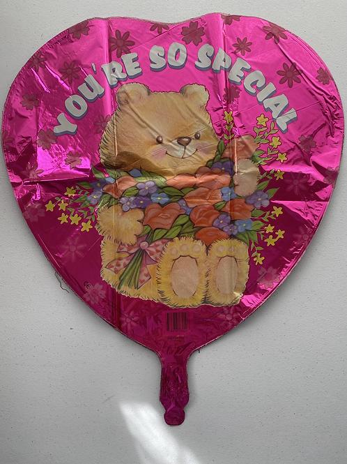 You're So Special Bear Heart Foil Balloon