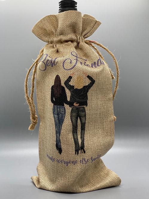 Best Friends Wine Bag