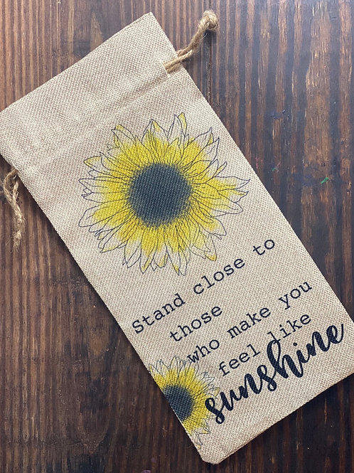 Sunflower Wine Bag