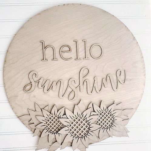 Hello Sunshine Door Hanger-DIY