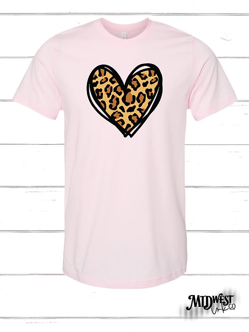 Cheetah Heart Valentines Tee Preorder