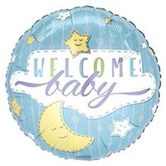 Blue Welcome Baby Foil Balloon
