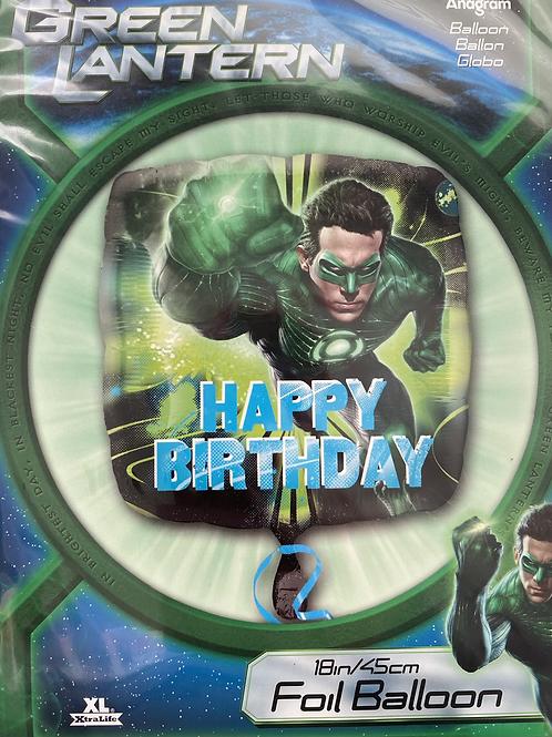 Green Lantern Foil Balloon