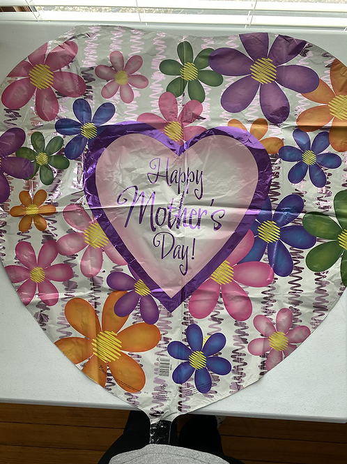 Jumbo Happy Mothers Day Heart  Foil Balloon
