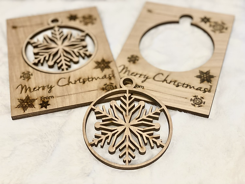 Wooden Ornament Christmas Card