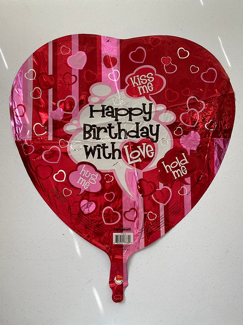 Happy Birthday with Love Foil Balloon