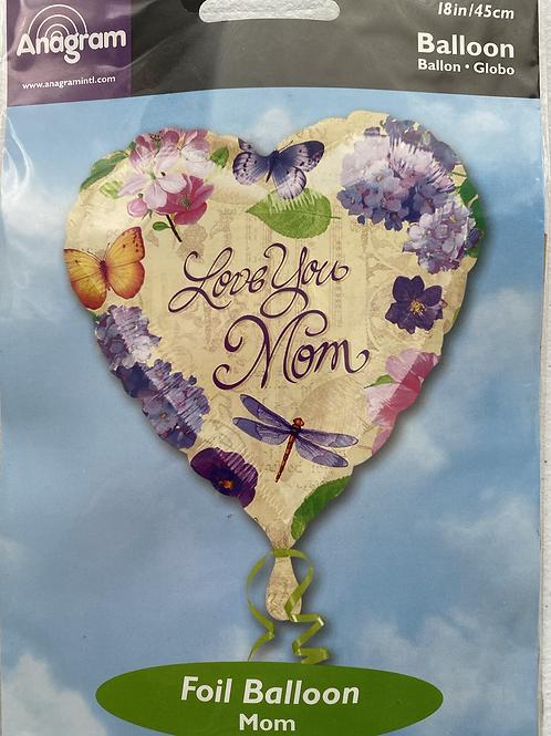 Love You Mom Foil Balloon
