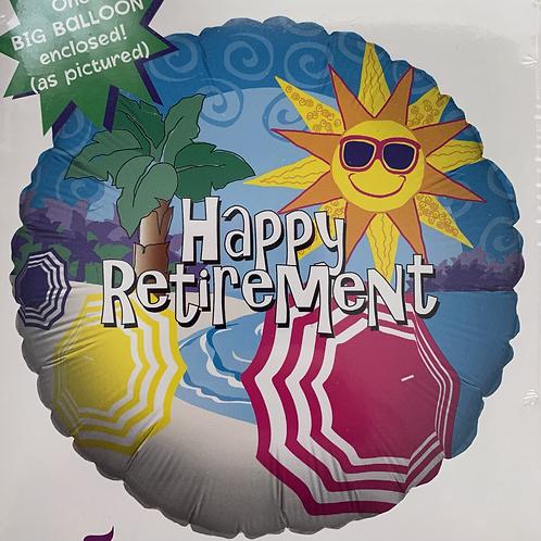 Happy Retirement Beach Foil Balloon