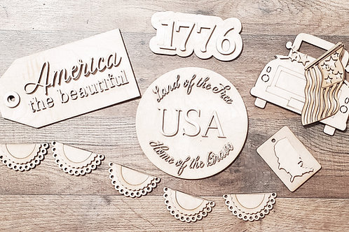 America Tiered Tray Set-BLANK