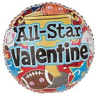 All Star Valentine Foil  Balloon