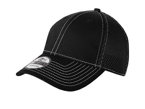 Stretch Contrast Stitch Mesh Fitted Hat