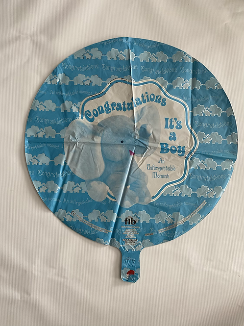 Unforgettable Moments Boy Foil Helium Balloon