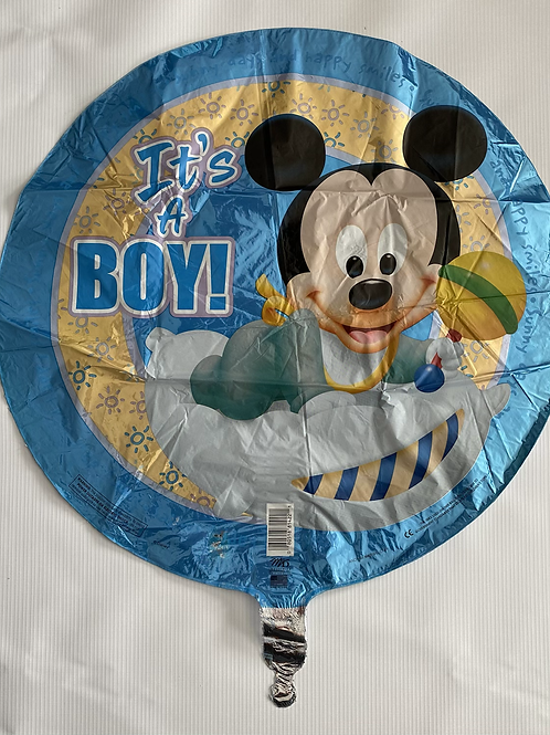 Its a Boy Mickie Foil Helium Balloon