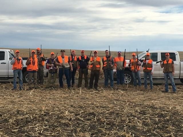 group of hunters