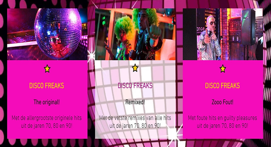 Disco Freaks 70's, 80's, 90's & 00's Party Concepts