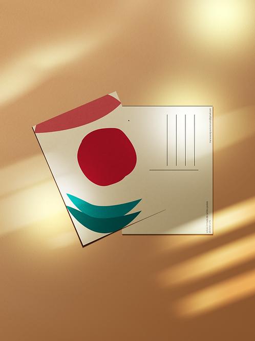 Cartão Postal Sol do Oriente