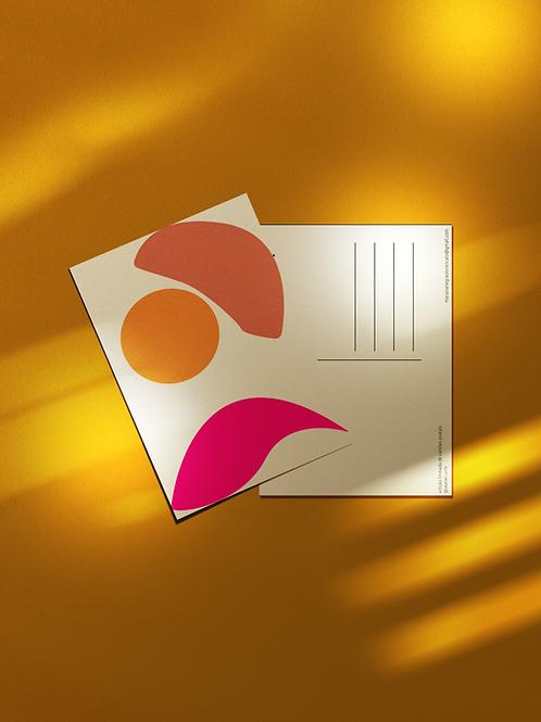 Cartão Postal Formas Abstratas