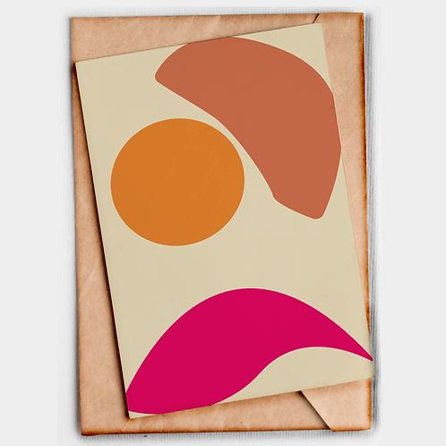 Gift Card Formas Abstratas
