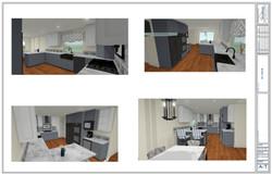 Preliminary 3D kitchen remodel views