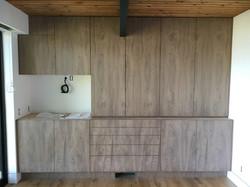 Custom Teak Built in Desk