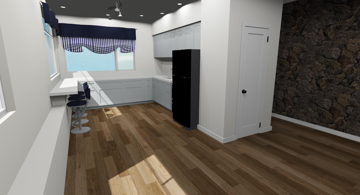 Hawaii Kitchen Remodel 3D Render